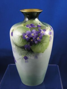 Bavaria Violet Motif Vase (c.1920-1940) from darkflowers on Ruby Lane