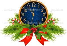 New Year's Eve Clocks   Decorated Clock (New Year's Eve) - Stock Illustration