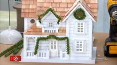 Home And Family Crafts, Home And Family Tv, The Night Before Christmas, Winter Christmas, Christmas Village Accessories, Christmas Crafts, Christmas Decorations, Wooden Blocks, Bird Houses