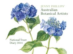 For a beautiful year - The National Trust of Diary. Each page is illustrated with an original Botanical drawing. Features work from internationally renowned Botanical artist Jenny Phillips and her local Botanical Art School of Melbourne. Botanical Drawings, Botanical Prints, Botanical Gardens, Jenny Phillips, Watercolor Flowers, Watercolour, Garden Shop, Australian Artists, Botany