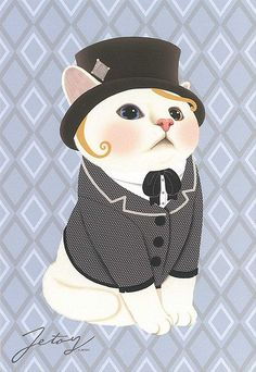 Jetoy Choo choo cat postcard - Couple 1 | Flickr - Photo Sharing!