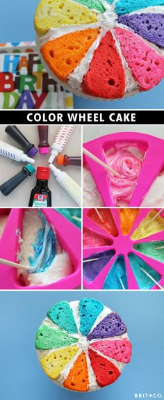 Color Wheel Cake Tutorial