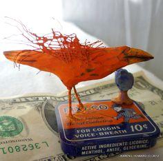 10c Orange Crow by KarenLHoward