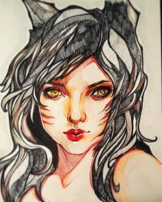 Finished  #ahri #drawing #leagueoflegends #pencil