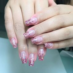 Coffin Nails Ombre, Acrylic Nails Coffin Short, Short Gel Nails, Best Acrylic Nails, Fabulous Nails, Gorgeous Nails, Elegant Nail Art, Baby Boomer, Rose Gold Nails
