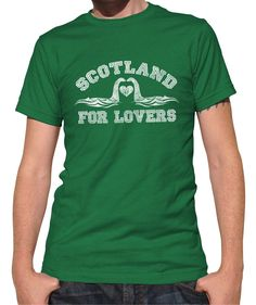 Men's Scotland is for Lovers T-Shirt Loch Ness Monster T-Shirt