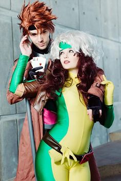 Characters: Rogue & Gambit / From: Marvel Comics X-Men / Cosplay Models: Hopie-Chan Rogue) & Michael DeVillar (Gambit) / Photo by apertureashley, Kifir and Mech Marvel Cosplay, Gambit Cosplay, Rogue Cosplay, Epic Cosplay, Amazing Cosplay, Cosplay Ideas, Superhero Cosplay, Couples Cosplay, Cosplay Outfits