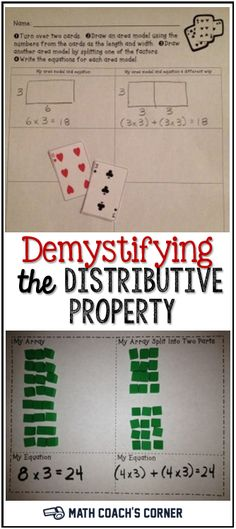 Does the mention of the distributive property make you sweat Check out these handson activities for making sense of it Math Teacher, Math Classroom, Teaching Math, Teaching Ideas, Future Classroom, Classroom Activities, Teacher Stuff, Classroom Ideas, Sixth Grade Math