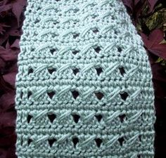 My June Scarf By Suzetta - Free Crochet Pattern - (suzies-yarnie-stuff.blogspot)