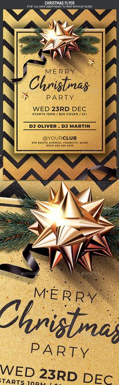 Christmas Flyer by Hotpin   GraphicRiver Christmas Flyer Template, Merry Christmas, Xmas, Flyer Printing, Club Flyers, Club Parties, Party Flyer, Print Templates, Invitations