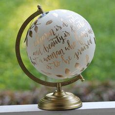 Globe 8 citation florale de peintes à la main par CarolinaQuill