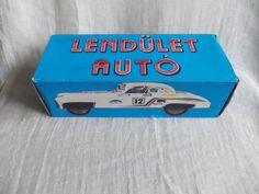 Vintage Hungarian LENDULET AUTO , SPORTS CAR friction tin toy,in original box | eBay