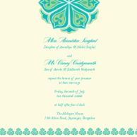Wedding Invitations Amrapali Minty Teal Wedding