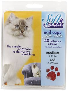 Soft Claws Red Cat Nail Caps *** You can get additional details at the image link. (This is an affiliate link and I receive a commission for the sales)