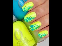 DIY- Summer Nails, Cute And Easy For Beginners, Yellow And Blue ...