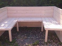Masivní smrková dřevěná lavice - box