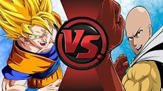 Saitama One Punch Man Vs Goku From Dragon Ball Z Buu Saga Cartoon Fight Club Episode 40 Of The Strongest Saiyan In Universe