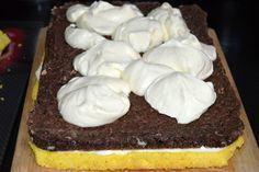Prajitura cu ciocolata alba si bezea de cacao | MiremircMiremirc Cake, Desserts, Aurora, Food, Tailgate Desserts, Deserts, Food Cakes, Eten, Cakes