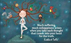 each thought for the truth eckhart tolle picture quote