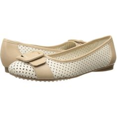 Anne Klein Brief Women's Flat Shoes, Bone ($51) ❤ liked on Polyvore featuring shoes, flats, bone, flat shoes, slipon shoes, anne klein flats, flat pumps y slip-on shoes