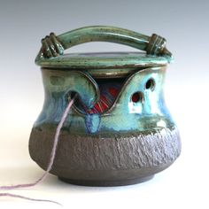 KittyProof Yarn Bowl As featured in SIMPLY KNITTING by ocpottery, $80.00