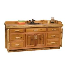 fireside lodge furniture cedar 6ft vanity country bathroom