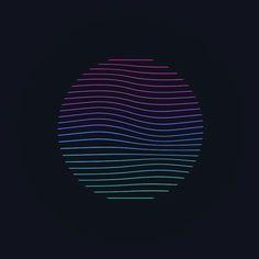 Wave of Colors.  #digital #graphics #digital_art #illustration #minimal #illusion #wave #gradient #sphere #circle #lines #damascus #syria #mood