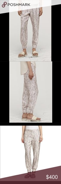 Rag & Bone harem pant RETAILS FOR $400 BEFORE TAX!  100% PRINTED SILK TWILL 103117  CUSTOM FLORAL OUTLINE PRINT  POCKETS AT FRONT SIDES  FLAT STRAIGHT POCKETS AT BACK  ELASTICATED LEG OPENINGS AT HEM❗️THESE PANTS ARE A SIZE 4 small listed for size comparison ❗️   ❤I have over 300 new with tag Free People+More items for sale! I love to offer bundle discounts! ❤No trades. love the item but not the price? Submit an offer! rag & bone Pants Ankle & Cropped