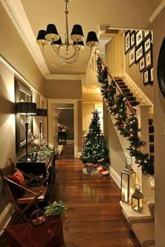 Beautiful hallway for christmas...one day ill have a house I can recreate this in - amazing