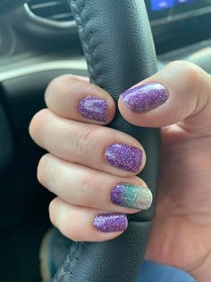 Everyday I'm Sparkling and Pacific Waters Color street Nail Color Combos, Nail Colors, Short Pink Nails, Long Square Nails, Pedicure Colors, Mermaid Coloring, Sparkle Nails, Diy Manicure, Color Street Nails