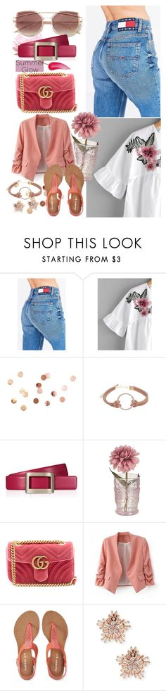 """""""summer outfit"""" by aletraghetti on Polyvore featuring moda, Tommy Hilfiger, Umbra, Roger Vivier, Gucci, Aéropostale, Fallon y Charlotte Tilbury"""