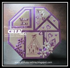 With Hearts Origami Flowers, Kirigami, Card Making, Stencil, Paper Crafts, Quilts, Frame, Creative, How To Make