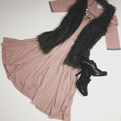 Nicole!! LuLaRoe obsessed!! Looks amazing on!! #fashion #lularoe #dress #fall #furvest