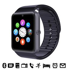 GSTEK Reloj Inteligente Bluetooth Smart Watch Teléfono Inteligente Pulsera con Cámara Pantalla Táctil Soporte SIM / TF para Android Samsung HTC LG Huawei Sony Reloj Deportivo (Negro) Para ver mas visita este enlace https://cadaviernes.com/ofertas-de-relojes-deportivos/