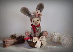 Petit lapin en laine feutrée à l'aiguille par LesVendredisDeNath