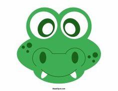 Alligator mask templates including a coloring page version of the mask. Free printable PDF at http://maskspot.com/download/alligator-mask/