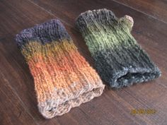 Mismatched Fingerless Gloves by MaryAnnDesign on Etsy