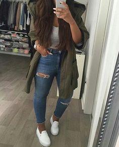hautomne, vêtements, froid, chute, mode, fille, de jeune fille, cheveux, iphone, ootd, jeans déchirés, chaussure, regarder