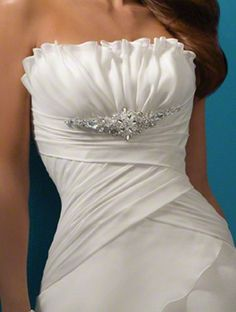 Alfred-Angelo Strapless Wedding Dress