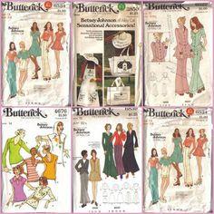 Betsy Johnson 1970's patterns!
