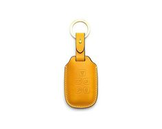 Randrover Handmade Buttero Leather Smart Key Cover/Case   -Handmade by: Custom Republic  -Leather: Vegetable leather from Conceria Walpier & Vera Pelle -Attachment pieces: 18K gold satin coating - Colors: natural, yellow, orange, brown, navy, and camouflage -Thread & Stitching: Serafil (from Germany)  -Measurement: 6.2cm x 15.7cm