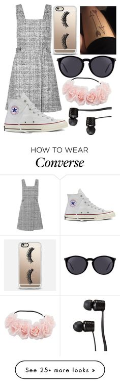 """Untitled #720"" by mriss-abbrie on Polyvore featuring New Look, Converse, Casetify, Yves Saint Laurent and Vans"