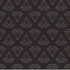 Black Diamonds Are Forever| Removable Wallpaper| WallsNeedLove