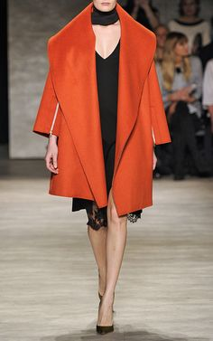 Orange Felted Wool Oversized Coat by Tome for Preorder on Moda Operandi