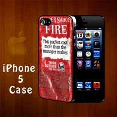 B1160 Taco Bell Fire Packet Sauce PERSONALIZED Iphone 5 Case | statusisasi - Accessories on ArtFire