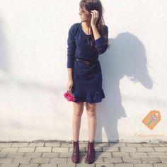 sem medo de amar  #etiquetaamei #lojaamei #vestido #azul #fofo