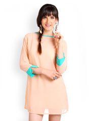 Nun Peach Coloured Shift Dress
