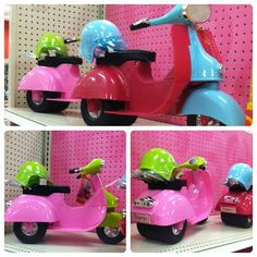 """Our Generation Scooter for 18"""" dolls ~ my girls got these for Christmas, so cute!! we have both colors! :)"""