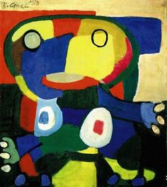 "Karel Appel 1921-2006, Netherlands artist, part of the Cobra group. Quote, ""I don't paint, I hit""."