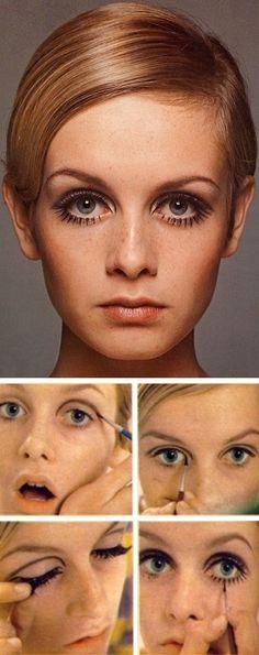 How to get Twiggie's 1960s mod makeup. Die zauberflöte- 1st lady
